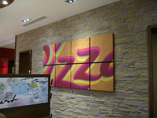 Pizza Hut, Fürth | Wanddekoration im Innenbereich
