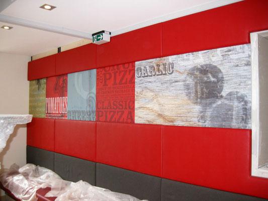 Pizza Hut, Wiesbaden | Digitaldruck-Wandbilder zieren den Innenbereich
