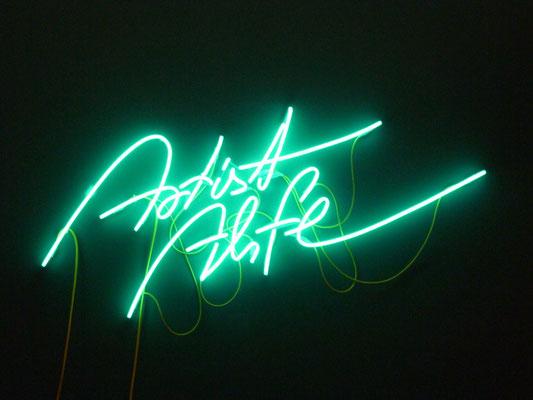 Artist Alife - NeonSign für direkte Wandmontage - die Kabelanordnung ist ausdrücklicher Kundenwunsch