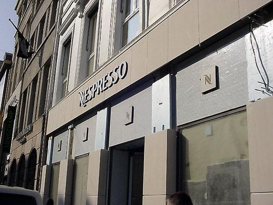 Nespresso, Brüssel | Frontleuchter (Vollacrylglas-LED-Buchstaben)