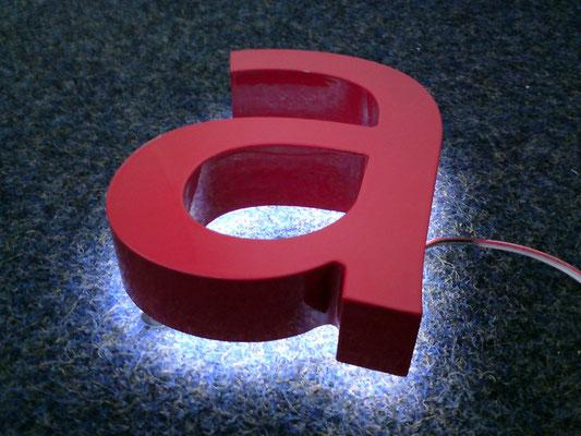 Beispiel - Rückleuchter (Vollacrylglas-LED-Buchstaben)