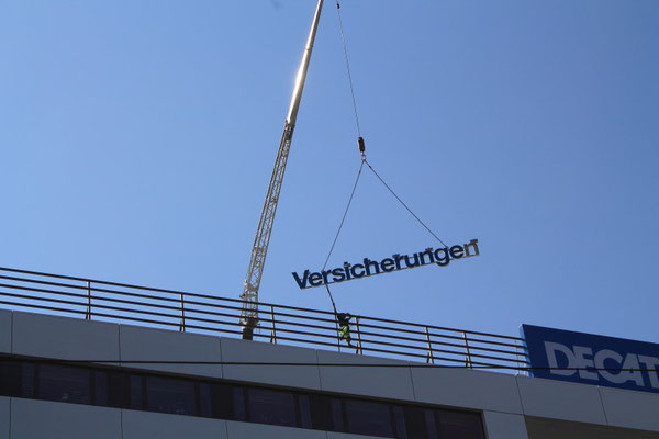 Barmenia Versicherungen, Chemnitz | Dachwerbeanlage im Profil 5 als Einzelbuchstaben