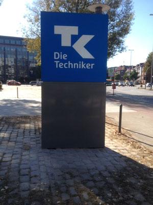 Techniker Krankenkasse, Hamburg | Werbepylon