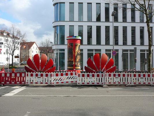 HUAWEI Deutschland, Düsseldorf | Leuchtschrift im Profil 8 auf Stahlkonstruktion für Dachmontage