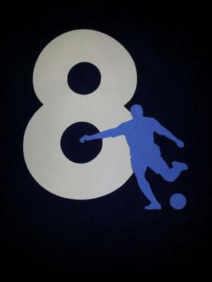 T-Shirt beflockt für Fußball-Fans