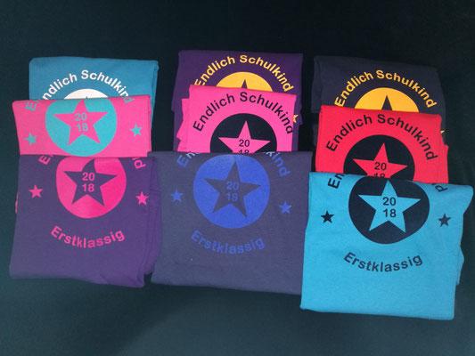 Schulanfänger-Shirts