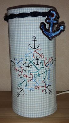 Maritime Lampe mit Dekoband (noch zu haben) 25,- Euro