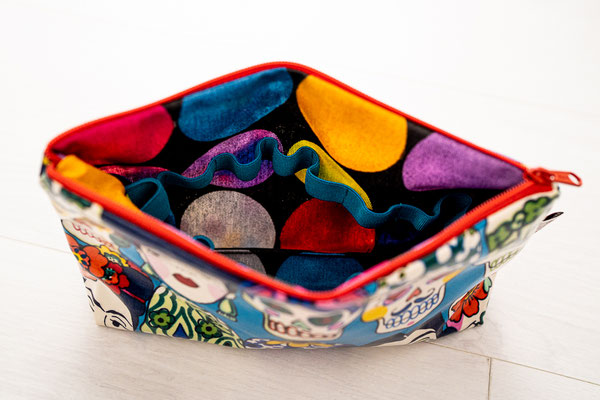 Öle Tasche Mexiko Blau klein Detail