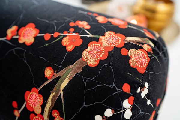 Bolster Kirschblüten Schwarz Detail II
