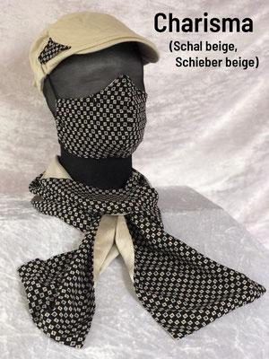 B1 - Maske + Schal + Schieber beige