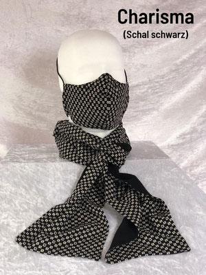 A1- Maske + Schalrückseite schwarz