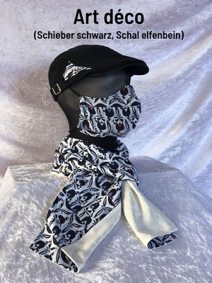 B2 - Maske + Schal Rückseite beige + Schieber