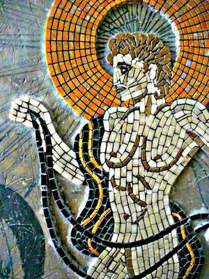 Mosaïque de marbre antique