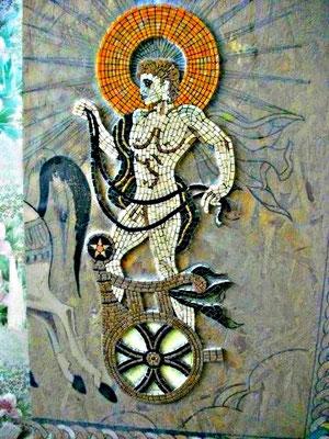 Mosaïque antique reproduction