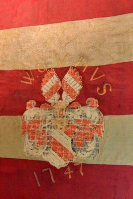Die restaurierte Fahne