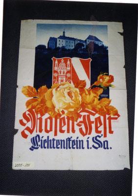 Plakat vor der Restaurierung