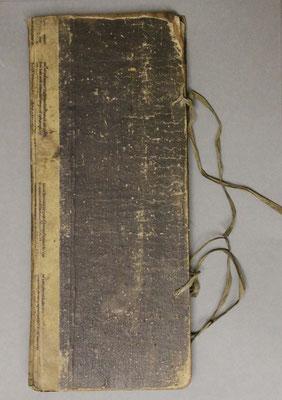 Innungsbuch vor dem Restaurieren