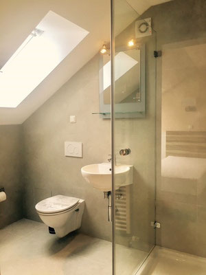 shower, toilet Hotel am Hafen