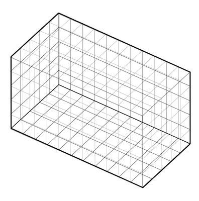 箱状の部屋(内側から見る場合)