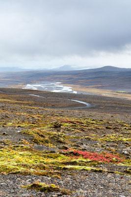 Hvítá rivier langs de Kjölur hooglandroute