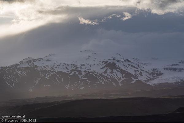 Mýrdalsjökull in het avondlicht