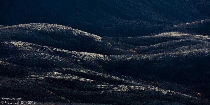 Detail van het landschap langs de Kaldidalur