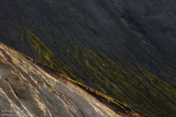 Rotswand in Grænagil