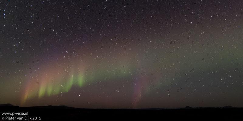Noorderlicht bij de Gullfoss