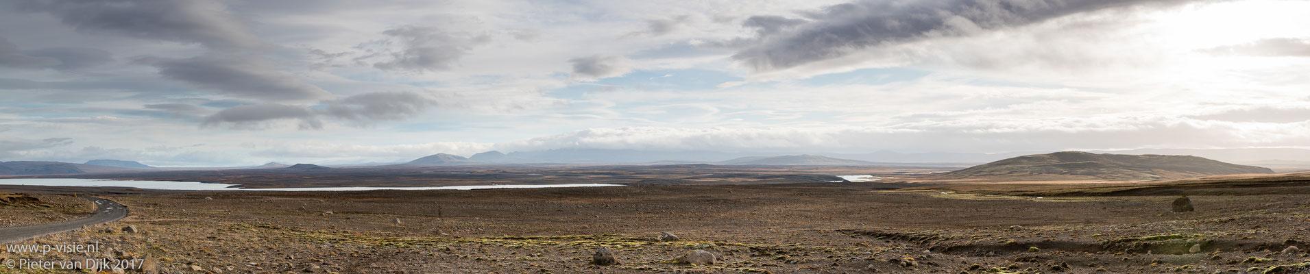 Panorama langs de Kjölur hooglandroute