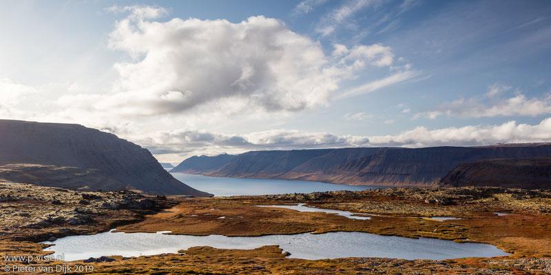 Zicht op Arnarfjörður