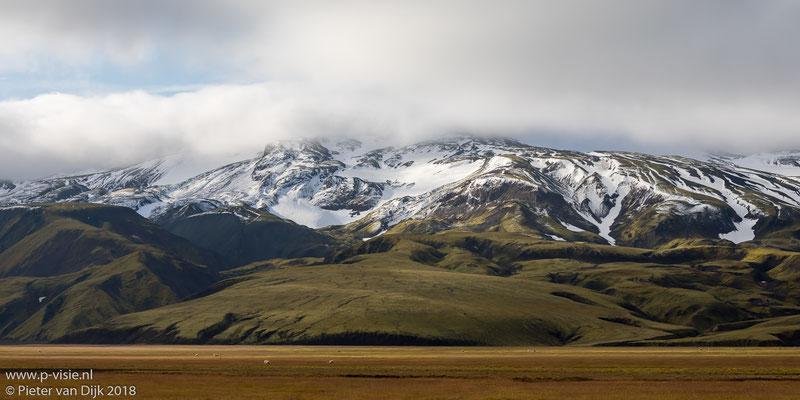 Landschap langs de Landmannaleið