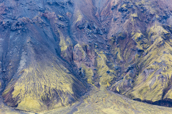 Bergwand bij Frostastaðavatn
