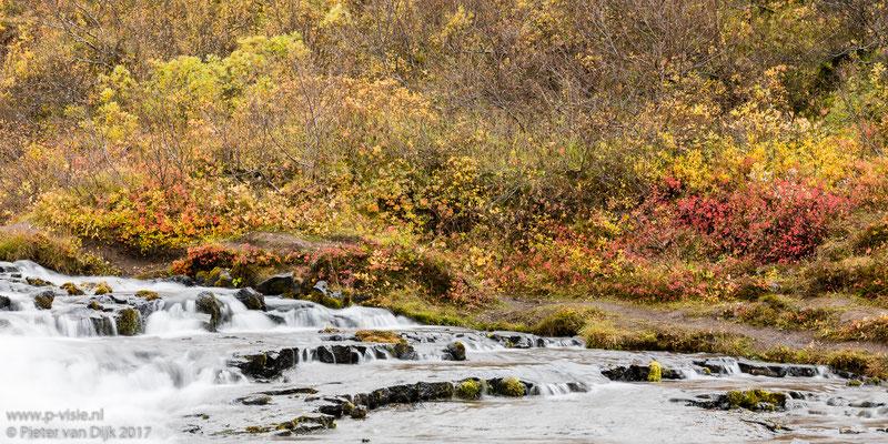 Herfstkleuren bij de Bruarfoss