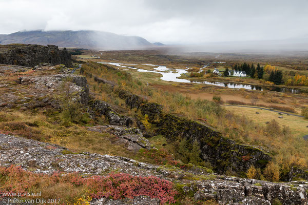 Uitzicht over Þingvellir
