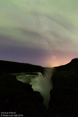 Noorderlicht boven Gullfoss