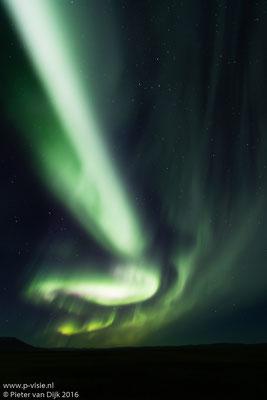 Noorderlicht  langs de Kjölurroute