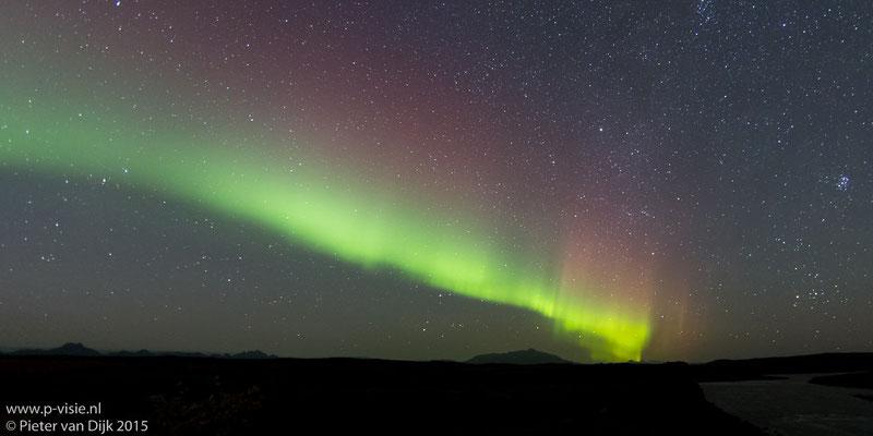 Noorderlicht boven de Gullfoss