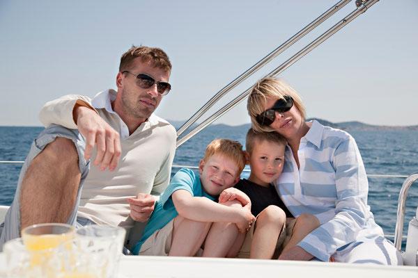 Inselhüpfen Familie Segelyacht