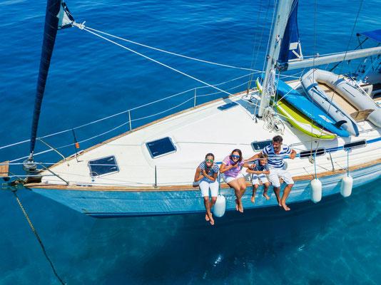 Split junge Gäste Segelyacht