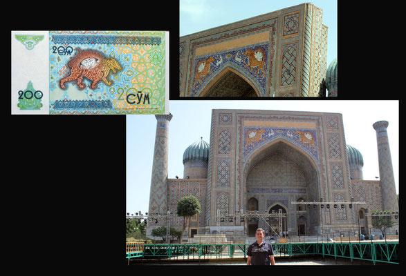 200 som 1997 Uzbekistan desde la Madrasa Sher Dor