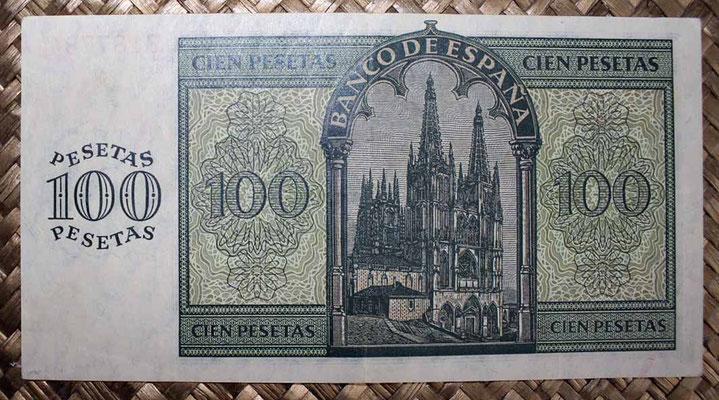 España 100 pesetas 1936 pk.101 reverso