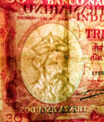 India portuguesa 30 escudos 1959 marca de agua