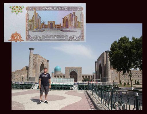50 som 1994 Uzbekistan desde el Registán