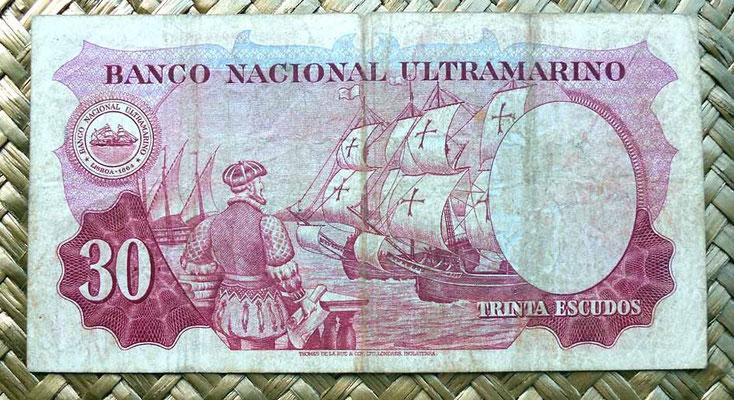 India portuguesa 30 escudos 1959 reverso