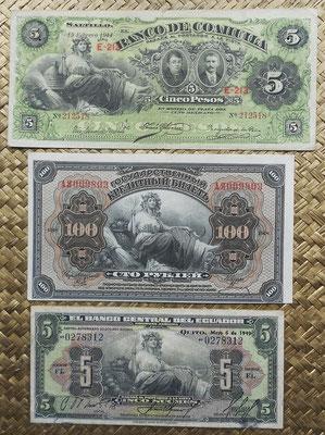 Ceres con la ABNC desde Mexico, Rusia y Ecuador 1914-1949 anversos