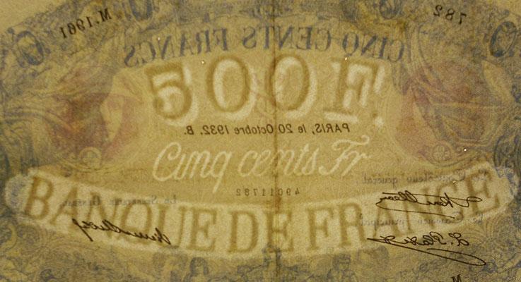 Francia 500 francos Bleu et Rose 1932 pk 66l filigrana