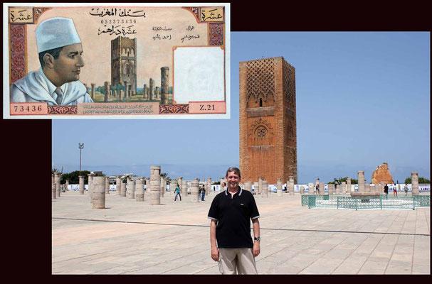 5 dirhans Marruecos desde la Torre Hassan