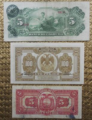 Ceres con la ABNC desde Mexico, Rusia y Ecuador 1914-1949 reversos