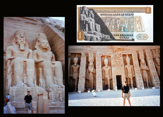 1 pound Egipto desde los Templos de Ramses II y Nefertari