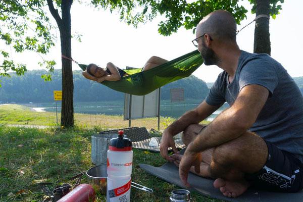 Abhängen im Borovik Camp